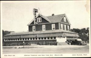 Ak New York USA, Dew Drop Inn, Jericho Turnpike and New York Avenue, Route 25