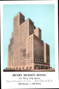 Ak New York City USA, Henry Hudson Hotel