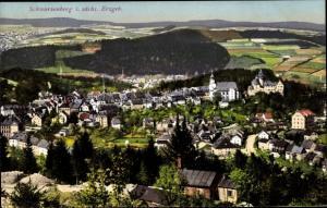 Ak Schwarzenberg im Erzgebirge Sachsen, Blick auf den Ort