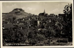 Ak Weinsberg an der Weibertreu im Kreis Heilbronn, Blick auf den Ort