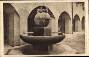 Ak Stuttgart in Baden Württemberg, Brunnen in der Bürgerschule v. Theo Fischer, Josef Zeitler