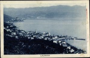 Ak Lovran Laurana Kroatien, Blick auf den Ort