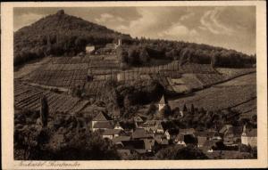 Ak Leinsweiler Rheinland Pfalz, Teilansicht mit Burg Neukastel