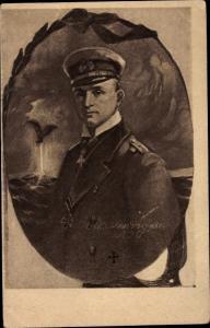 Künstler Ak Otto Weddigen, Marineoffizier, Kapitänleutnant