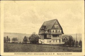 Ak Schömberg Baden Württemberg, Sanatorium, Kinderheim