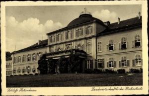 Ak Hohenheim Stuttgart in Baden Württemberg, Schloss, Landwirtschaftliche Hochschule