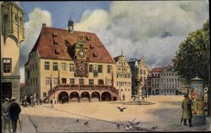 Künstler Ak Hoffmann, H., Heilbronn am Neckar, Marktplatz, Rathaus