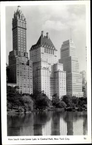 Ak New York City USA, Lower Lake, Central Park