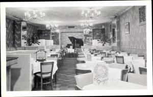 Ak New York City USA, Cafe Geiger, 206 East 86th St, 28, Innenansicht