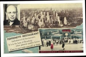 Ak New York City USA, Toffenetti Restaurant, 43rd Street of Broadway on Times Square