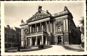 Ak Brno Brünn Südmähren, Landestheater