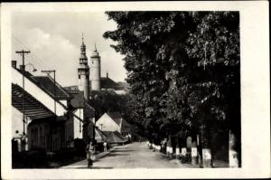 Ak Sumava-Domazlice Jihoceský kraj Südböhmen Tschechien, Straßenpartie