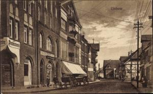 Ak Lüchow im Wendland, Straßenpartie, Kaufhaus Blank u. Lücking, Bäckerei Grote, Buchhandel Sander