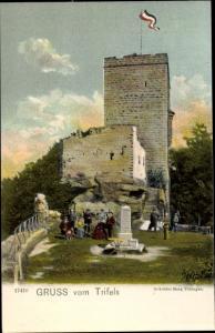 Litho Trifels im Kreis Südliche Weinstraße, Ortspartie