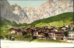 Ak Gemmi Leukerbad Kanton Wallis, Loueche Village et la Gemmi