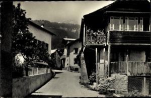 Ak Mollens sur Sierre Valais Kanton Wallis, Ruelle