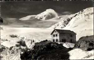 Ak Saas Fee Kanton Wallis, Berggasthaus Langefluh