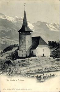 Ak Frutingen Kt Bern, Die Kirche