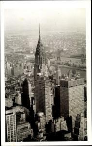 Foto Ak New York City USA, Chrysler Building, Skyline