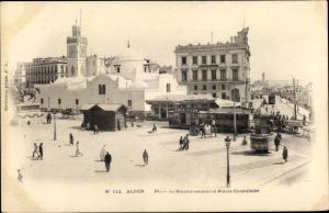 Ak Algier Alger Algerien, Place du Gouvernement et Palais Consulaire