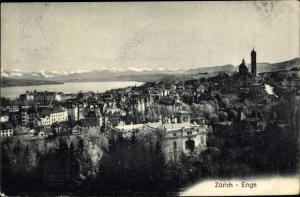 Ak Enge Zürich Stadt Schweiz, Panorama
