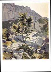Künstler Ak Hodler, F., Landschaft am Saleve um 1890