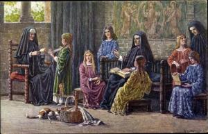 Künstler Ak Wagner, A., 1000jahrfeier Kassel, Jahr 1163, Nonnen des Augustinerkloste zum Ahnaberge