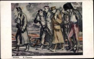 Künstler Ak Wagemans, M., Heros, Asiles des Soldats Invalides Belges, belgische Soldaten