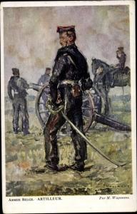 Künstler Ak Wagemans, M., Armee Belge, Artilleur