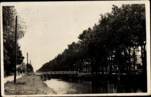 Ak Schoonoord Drenthe Niederlande, Brückenpartie