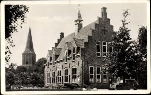 Ak Sleen Drenthe Niederlande, Gemeentehuis