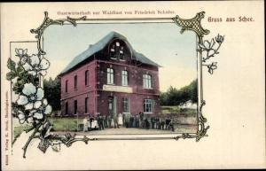 Ak Schee Sprockhövel Nordrhein Westfalen, Gastwirtschaft zur Waldlust, Inh. Friedrich Schäfer