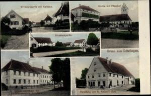 Ak Denkingen Baden Württemberg, Handlung v. W. Rauch Wwe., Lehrerwohnhaus, Kirche, Rathaus