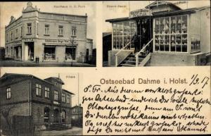 Ak Ostseebad Dahme in Holstein, Kaufhaus H. C. Puck, Strandbazar, Filiale