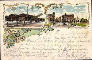 Litho Wanne Herne im Ruhrgebiet, Bahnhof, Solbad Wilhelmsquelle