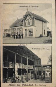 Ak Wakendorf Kiel in Schleswig Holstein, Geschäftshaus Otto Heuer, Bienenstand