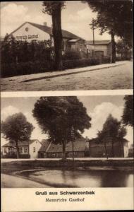 Ak Schwarzenbek in Lauenburg, Mennrichs Gasthof, Teich
