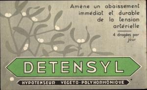Ak Detensyl, Reklame, Hypotenseur, Laboratoire du Detensyl, Avenue Walkaner, Nice