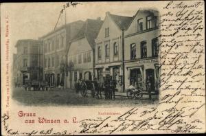 Ak Winsen an der Luhe, Marktstraße, Herrmann Wolters, Bernhard Horwitz