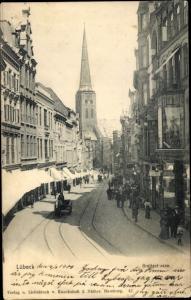 Ak Hansestadt Lübeck, Breitestraße