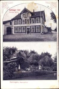 Ak Rellingen in Schleswig Holstein, Rellinger Hof, Inh. Gustav Koch, Parkpartie