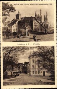 Ak Naumburg an der Saale, Wezels oder Viehtor, erbaut 1510, abgebrochen 1836, Gr. Wezelsstraße 1928