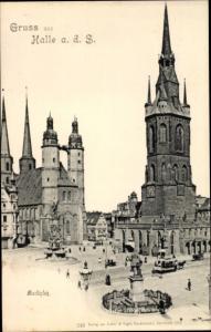 Ak Halle an der Saale, Marktplatz