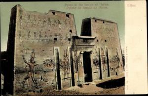 Ak Edfu Ägypten, Pylon at the temple of Horus