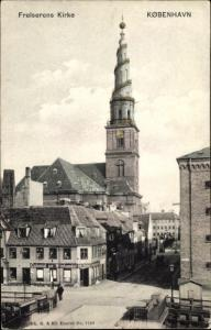 Ak København Kopenhagen Dänemark, Frelserens Kirke, Colonial od Vinhandel