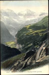 Ak Lauterbrunnen Kt Bern Schweiz, Tal von der Schynigen Platte gesehen