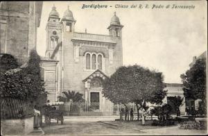 Ak Bordighera Liguria, Chiesa dei R.R. Padri di Terrasanta