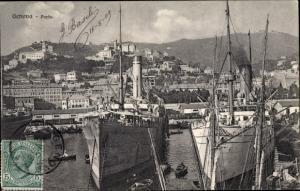 Ak Genova Genua Liguria, Porto