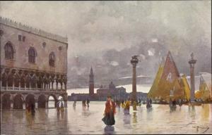 Künstler Ak Venezia Venedig Veneto, Piazetta ed Isola