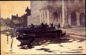 Künstler Ak Venezia Venedig Veneto, Portico del Palazzo Reale